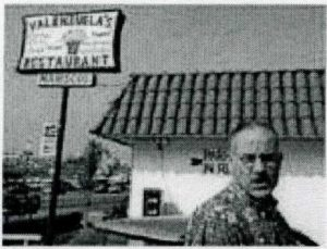 Ellroy outside the restaurant where his mother was last seen alive. (AP)