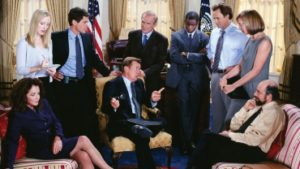 A scene from screenwriter Aaron Sorkin's The West Wing